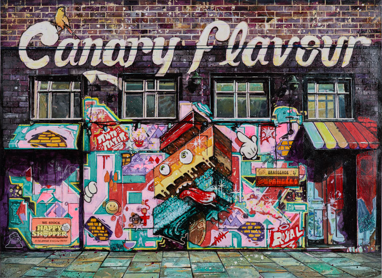 Canary Flavour painting by Stuart Free