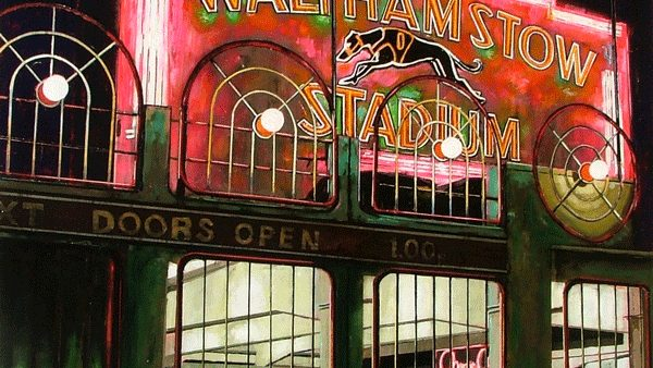 Walthamstow Dogs painting by Stuart Free