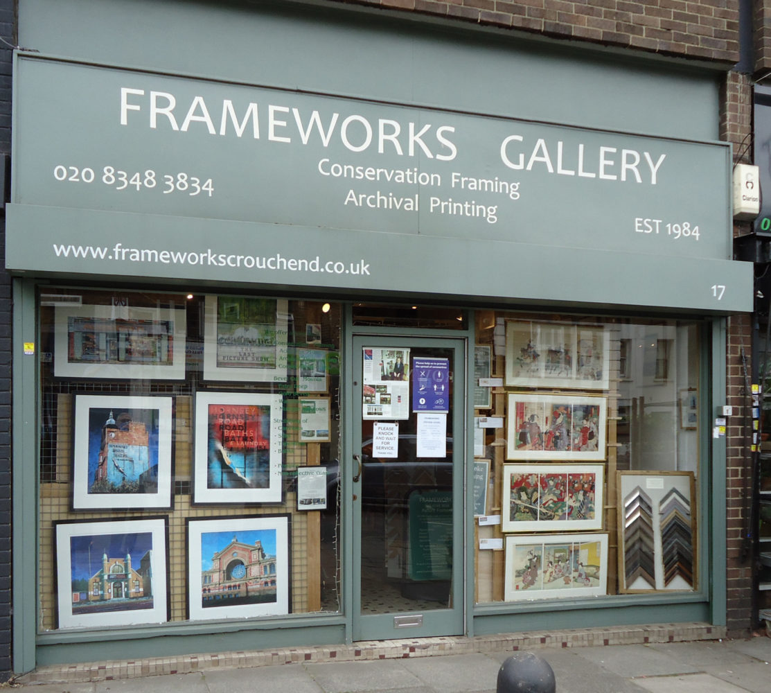 Frameworks, conservation framing in Crouch End, London N8