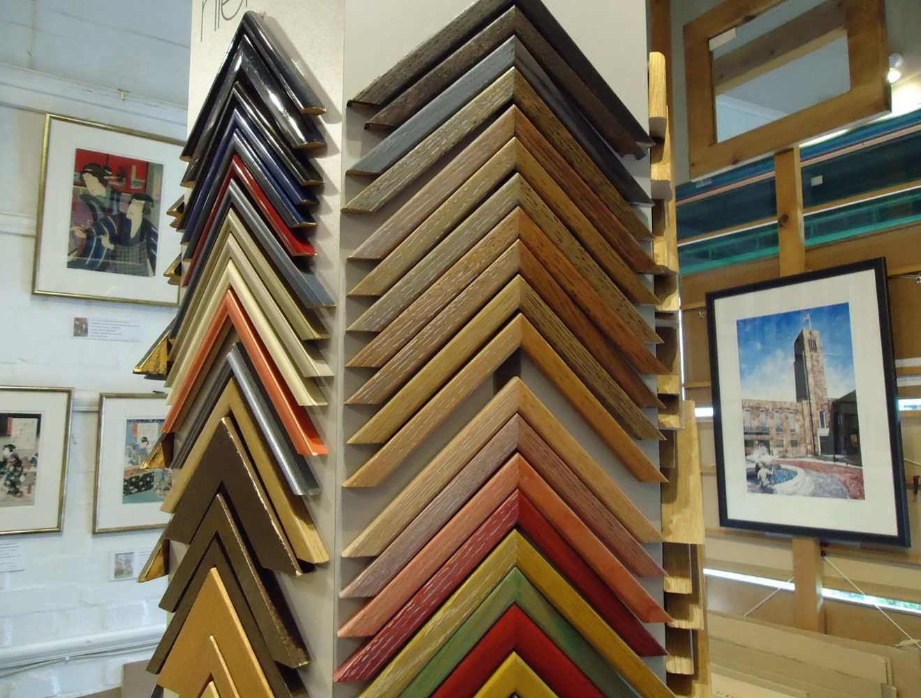 Wide selection of frames at Frameworks picture framing London N8