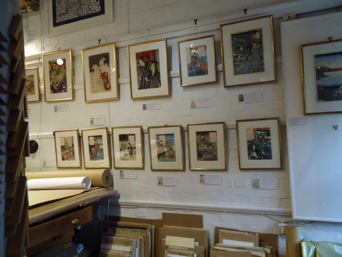 Temporary Exhibitions at Frameworks Crouch End, Picture framers in North London