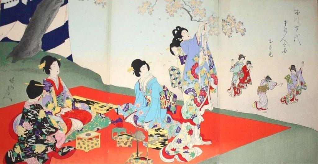A.77 Yoshu Chikanobu 1835-1912.Oban x 3A.77 Yoshu Chikanobu 1835-1912.Oban x 3