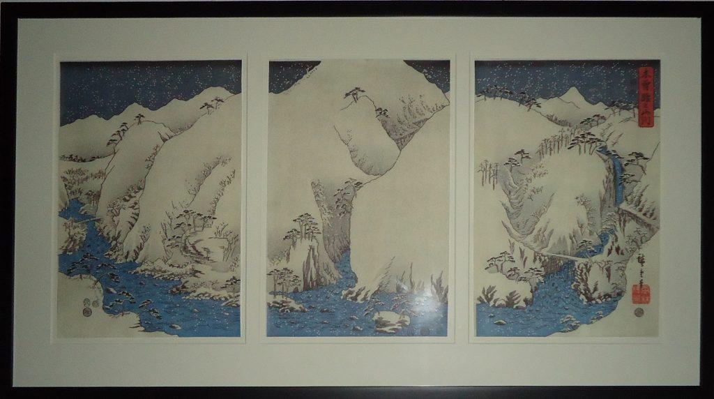 Hiroshige-Giclee-Snow scene triptych